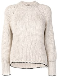 Nude Chunky Knit Jumper Women Acrylic Polyester Viscose Alpaca 40 Nude Neutrals