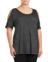 Marc New York Cold Shoulder Performance Top Black