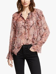 And Or Esme Paisley Print Blouse Pink