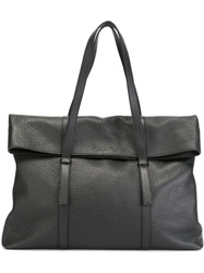 Orciani Foldover Top Tote Black