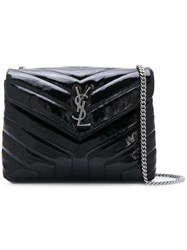Saint Laurent Small Loulou Chain Bag Women Patent Leather Metal One Size Black