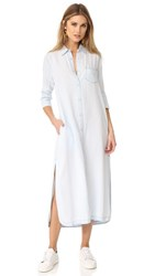 Dl1961 Fire Island Maxi Shirt Dress Bleached Acid Wash
