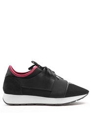Balenciaga Race Runners Panelled Low Top Trainers Black Pink