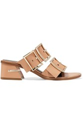 Tibi Kari Leather Mules Tan