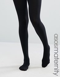 Asos Maternity 120 Denier Tights With Supportive Band Black