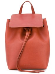 Mansur Gavriel Drawstring Backpack Women Calf Leather One Size Brown