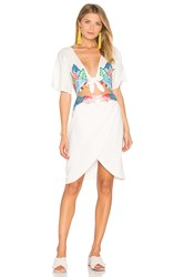 6 Shore Road Embroidered Flora Dress White