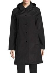 Jane Post Follies Balmacaan Coat Black
