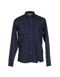 White Mountaineering Shirts Dark Blue