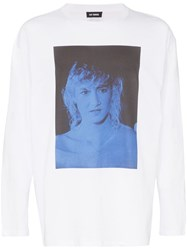 Raf Simons Laura Dern Graphic Sweatshirt White