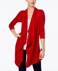 Inc International Concepts Draped Open Front Cardigan Only At Macy's Real Red