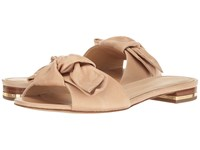 Michael Michael Kors Willa Slide Light Khaki Vintage Leather Women's Shoes Brown