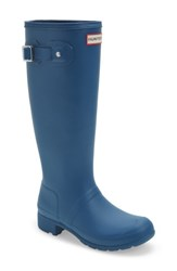 Hunter Women's 'Tour' Packable Rain Boot Dark Earth Blue