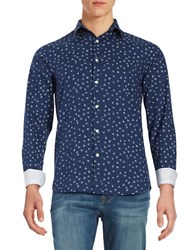 Selected Triangle Print Sportshirt Medieval Blue
