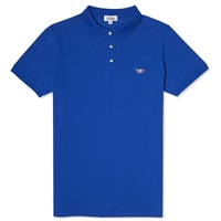 Maison Kitsune Tricolour Fox Polo Royal Blue