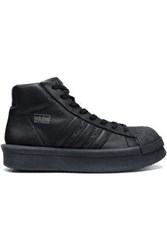 Rick Owens X Adidas Woman Mastodon Pro Leather High Top Sneakers Black