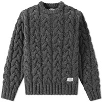 Neighborhood Fisherman Cable Knit Grey