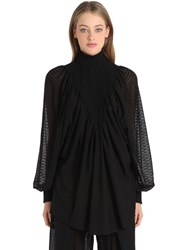 Tim Labenda Pinstripe Virgin Wool Turtleneck Top