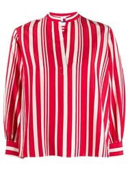 Chinti And Parker Striped Blouse Red