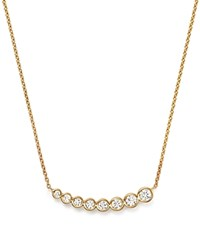Kc Designs Diamond Graduating Bezel Pendant Necklace In 14K Yellow Gold 16
