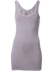 James Perse Fitted Tank Top Pink And Purple