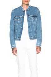 Acne Studios Who Frayed Denim Jacket In Blue