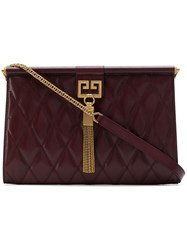 Givenchy Medium Gem Quilted Bag Red