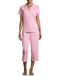 Karen Neuburger Polka Dot Pajama Set Pink Dot