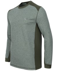 Greg Norman For Tasso Elba Men's Thermal Shirt Only At Macy's Dark Green