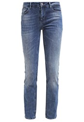 Only Onlella Straight Leg Jeans Medium Blue Denim