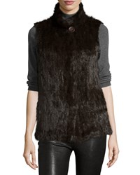 Gorski Sable Fur Stand Collar Vest Brown