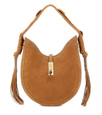 Altuzarra Ghianda Bullrope Hobo Small Suede Shoulder Bag Brown