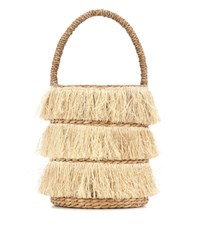 Kayu Lolita Woven Bucket Bag Neutrals