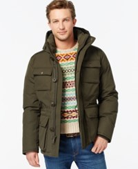 Tommy Hilfiger Hooded Utility Field Coat Dark Forest