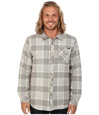 O'neill Shasta Quilted Flannel Top Grey Men's Long Sleeve Button Up Gray