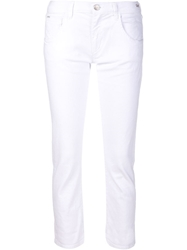 Gold Sign Goldsign 'His' Cropped Jeans White