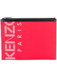 Kenzo Sport A4 Pouch Red