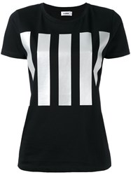 Jil Sander Vertical Stripe T Shirt Black