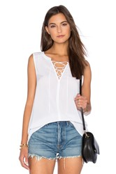 Velvet By Graham And Spencer Leonna Rayon Challis Tank White