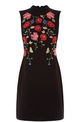 Oasis Poppy Embroidered Shift Dress Multi Coloured Multi Coloured
