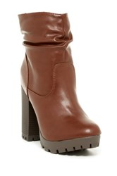 Oppo Celine Scrunch Lug Boot Brown
