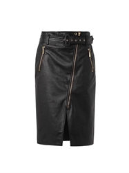 Jason Wu Zip Front Leather Pencil Skirt