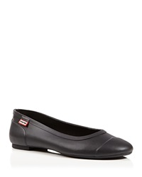 Hunter Rain Flats Ballet Black