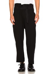 Ann Demeulemeester High Waisted Trousers In Black