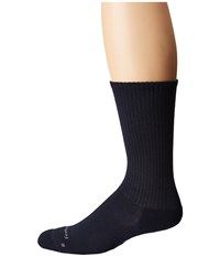 Feetures Casual Rib Cushion Crew Sock Navy Crew Cut Socks Shoes