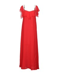 Space Style Concept Long Dresses Red
