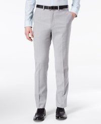 Dkny Men's Modern Fit Stretch Gray Sharkskin Suit Pants
