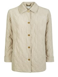 Eastex Abstract Leaf Quilt Raincoat Neutral