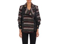 Maison Mayle Women's Marlo Wool Blend And Faux Leather Moto Jacket Black