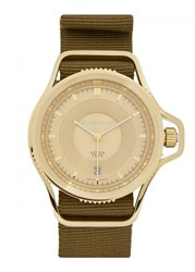 Givenchy Gold Tone Stainless Steel Watch Olive